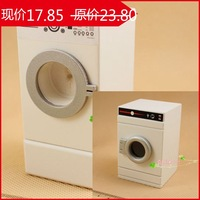 G05-X0050 children baby gift Toy 1:12 Dollhouse mini Furniture Miniature baby wooden white color Washer 1pcs