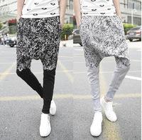 2014 New Men Printed Drop Crotch Harem Skinny Sweatpants Sports Baggy Pants Mens Casual Hip Hop Joggers Silm Bandana Trousers