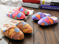 Free Shipping Coral Cashmere Home Cotton Slippers Cartoon Cute Korean Comfort Slippers Indoor Floor A-210