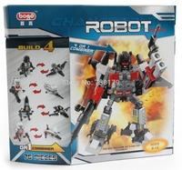 Color Box Packing 4 in 1 Combiner Various Models Transformation Robots Cars Building Blocks Minifigure DIY Bricks Toys
