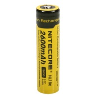free shipping Nitecore NL186 2600mAh 18650 Protected Li-ion Battery(1-Cell )