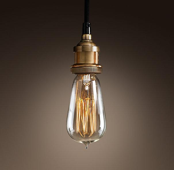 American vintage pendant lights copper lamp holder tungsten light bulb industry pendant lamps Golden/Chrome E27 W-filament bulb(China (Mainland))