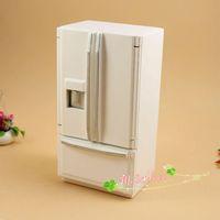 G05-X0049 children baby gift Toy 1:12 Dollhouse mini Furniture Miniature baby wooden white Refrigerator fridge color 1pcs