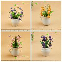G05-X0053 children baby gift Toy 1:12 Dollhouse mini Furniture Miniature home Decoration flower 1pcs