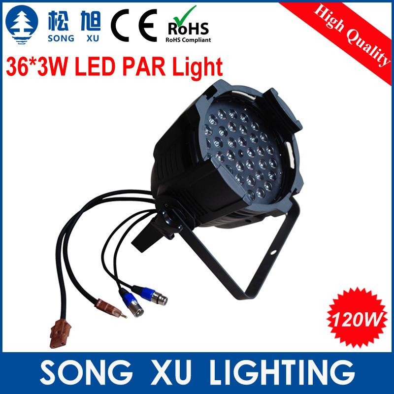 6pcs/lot High Quality constant current 36*3w RGB Led Par Cans Stage Par Light/SX-PL3603(China (Mainland))