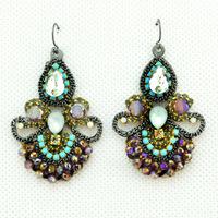 New Fashion Bohemia Retro Popular Elegant Fashion Hollow Crystal Luxury Statement earrings for women ladies Jewelry
