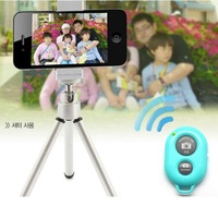Hot Selling Self-Timer Wireless Bluetooth Remote Control Camera Shutter For Samsung S5 S4 Note4 Note3 Iphone IOS Android Phone