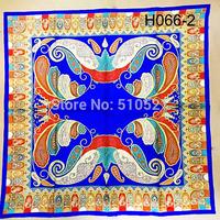 90x90cm  new 2014 pure silk screen printing paisley headwear  turkish women bandanas free shipping