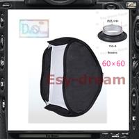 60*60 Bowens Mount Foldable Quick Set-up Photo Studio Square Softbox Soft Box For Strobe Flash Lighting PS102
