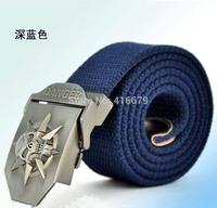 2014 Hot sale men canvas belt Punk Skull military belt Army tactical belt top quality men strap 12 colors 140 cm free shipping