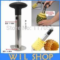 Wholesale 4pcs/lot  Stainless steel Pineapple Corer Peeler Cutter,Multifunctional Easy Slicer Pineapple Corer Fruit Peeler