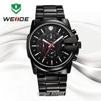Top Sale 2014 WEIDE Luxury Brand Sports Watches 50 meters Water Resistant  Men Full Steel Watch MIYOTA Analog Quartz Watch 93003