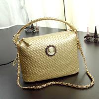 Fashion vintage 2014 knitted bucket bag handbag shoulder bag female bags