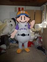 2014Hot sale  baseball boy doll clothes sports doll baseball mascot cartoon clothes adult size costume