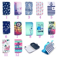 Wallet Stand Leather Flip Case Mobile Phone Cover Pouch for Samsung Galaxy Fame GT-S6810