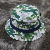 Fashion Skull camo bucket hat cap blank bucket hat custom headwear