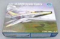 Trumpeter model 01649 1/72 F-100D Super Sabre