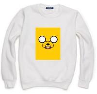 Adventure Time Sweatshirt For Women Men Flocking Hoodies Lady Casual Fleece Hoody Pullover Thick Moleton Feminino XXXL ZY053-03