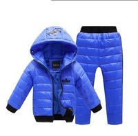 Baby Boys Girls Set tracksuit kids clothing sets frozen pajamas for girls boys winter jacket children's pajamas children down