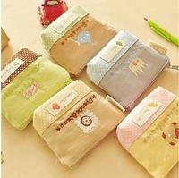 MeetU Fall in love with wave Korean cotton cute little purse coin bag small fresh fashion wholesale durable Wallets,canvas Purse