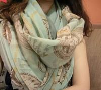 Summer and fall and super long joker air conditioning shawl Sun beach silk scarves