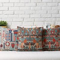 IKEA Nordic  Modern  Geometry  Bohemia Stripes Linen pillow cover cushion cover Square Pillowcases Home Decor sofa cushions