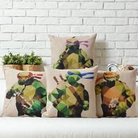 Teenage Mutant Ninja Turtles Creative Cute animals Linen pillow cover cushion cover Square Pillowcases Home Decor sofa cushions
