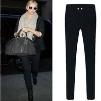 2014 New Autumn Fashion Women Straight Casual Slim Pencil Pants Skinny Jeans women Denim pants Brand Plus Size XXL emoji joggers