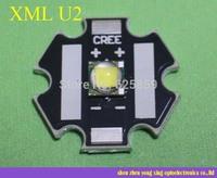 Free shipping  Cree XLamp XML U2 10W LED Emitter Cold White /  warm white  with 20mm Star Base for led flashlight
