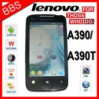 Original Lenovo A390 / A390T MTK6577 Dual Core Mobile Phone Android 4.0 RAM 512MB ROM 4GB Dual SIM 3G GSM WCDMA GPS