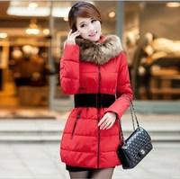 Winter outerwear female wadded jacket 2013 winter medium-long down cotton-padded jacket thickening cotton-padded jacket