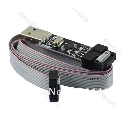 USBasp USBISP 3.3V / 5V AVR Download Programmer USB ATMEGA8 ATMEGA128+Free Shipping(China (Mainland))