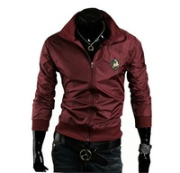 2014 New Promotion Freeshipping Conventional Jersey Zipper Regular Solid For Men Coats & Jackets Jacket J01