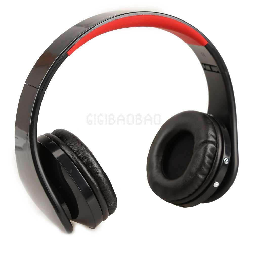 Wireless Cordless SD TF Card Stereo Headset Headphone for MP3/4 PC CD Black #gib(China (Mainland))