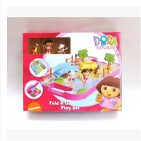 Free Shipping! Genuine Bilingual Program Dora The Explorer Doll Play House Toy Dolls Scene Furnishings Children's Toys