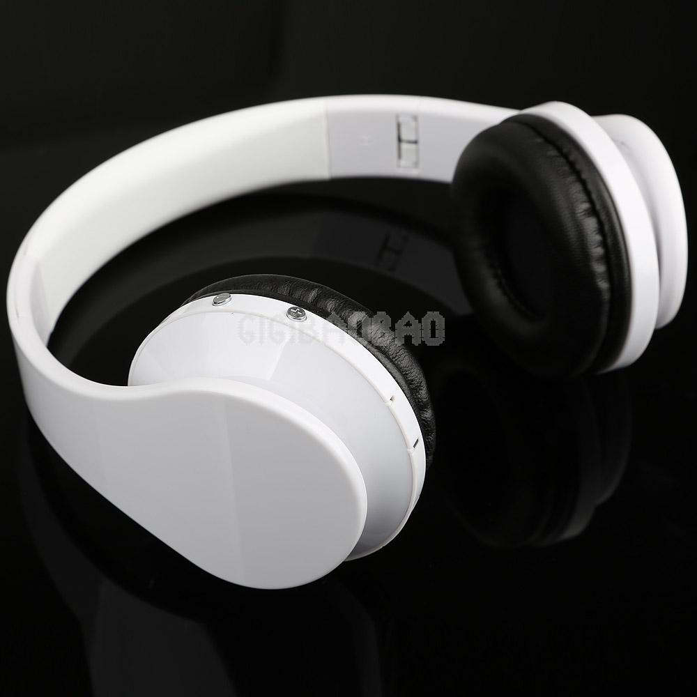 White Wireless Cordless SD TF Card Stereo Headset Headphone for MP3/4 PC CD #gib(China (Mainland))