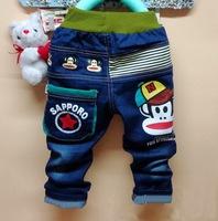 Free shipping hot 2014 autumn cartoon  printed children jeans boys pants