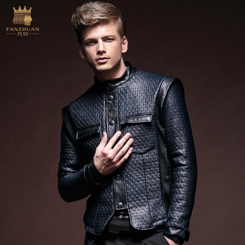 Designer Leather Jacket Men - Jacket