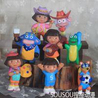 Free Shipping Genuine Bulk DoratheExplorer Dora The Explorer Benny Cattle Rascal Fox Dora 8 Paragraph Doll Doll Ornaments