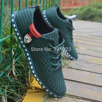 Cotton-made beijing shoes Men network shoes men's breathable shoes single shoes male summer 2014 transpierce