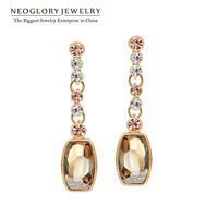 Neoglory Austrai big Crystal 14K Gold Plated Drop Dangle Earrings for Women Fashion Jewelry 2014 Brand New Romantic Charm