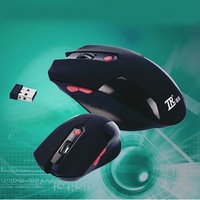 New 2014 hot sale 6 Keys USB Wireless Gaming Mouse Optical Computer Game Mouse 2.4G Wireless Mouse For Gamer Free Shipping