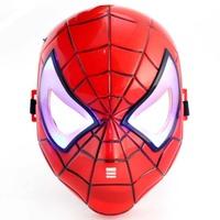 Halloween masquerade masks male child cartoon mask light-up toy with light mask  Luminous spiderman mask