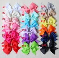 "3.5 "" baby grosgrain ribbon hair bows,children hair accessories,baby hairbows girl hair bows with clip-40pcs/lot"