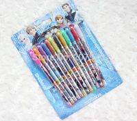 New Arrive Product (2Box/24 Pcs) Hot sale! Frozen 12-Color Glitter Pen/Pen/Free shipping