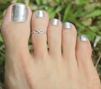 Hot New Arrival Women Girl Gothic Boho Nice Sweet Silver Gold Infinity Toe Ring Knuckle Ring