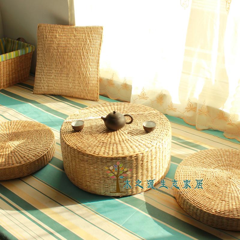 2014 Round New Cojines Hot Sale Throw Pillows Almofadas Decorativas Almofada Summer Cushion Baidian Thickening Rice Braid Futon(China (Mainland))