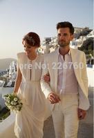 Wholesale - Groom Tuxedo Suit Men Beach Wedding Suit Champagne Color (Jacket + Pant )