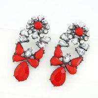 Fashion All Match Fluorescent Resin Stud Earrings Fashion Women Charm Earring