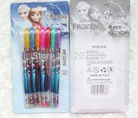 """wholesale School 60 Box 480pcs 8 colors """"metallic glitter + fruit scent """" ink Frozen blink pen pencil ballpoint pens"""